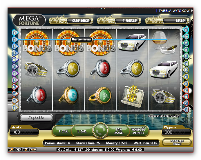 casino online poker mega fortune
