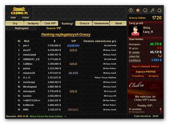 casino.pl ranking graczy