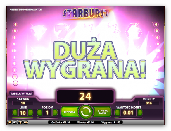 Automat do gry Starbust